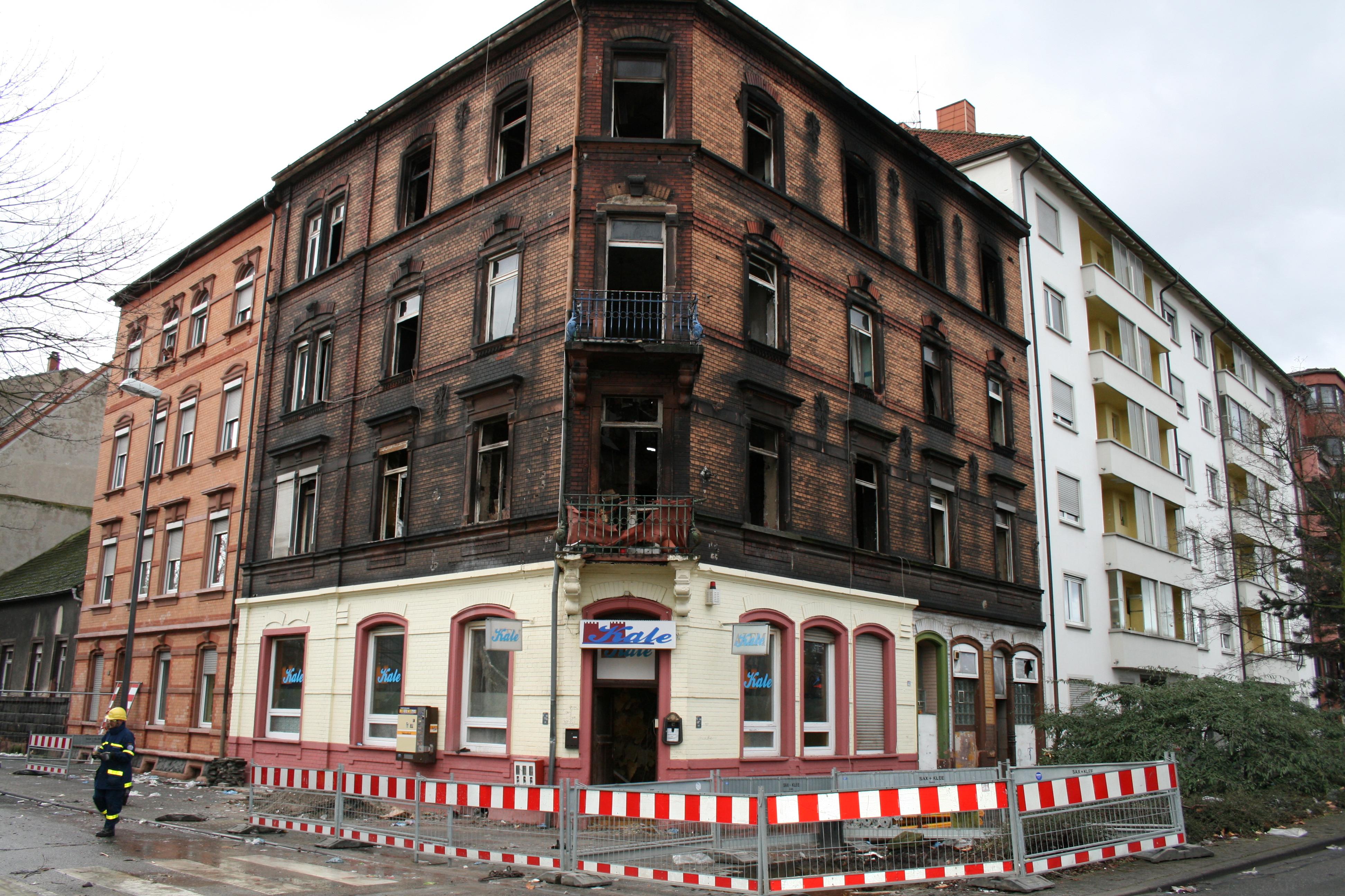 Ruine Brand Ludwigshafen